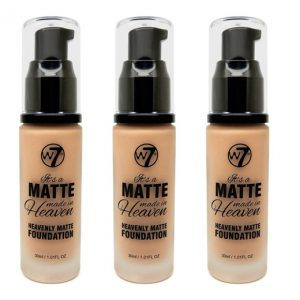 W7 Matte made heaven foundation natural tan (3 stuks)