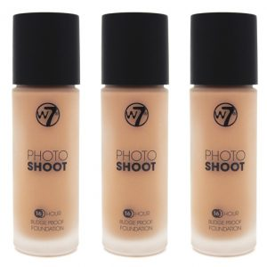 W7 Photoshoot foundation true beige (3 stuks)