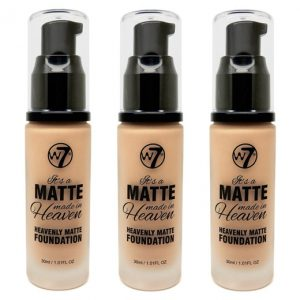 W7 Matte made heaven foundation true beige (3 stuks)