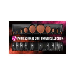 W7 Professional Soft Paddle Brush Set 10 pcs