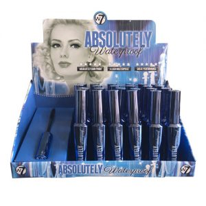 W7 Absolutely Waterproof Mascara 24 stuks op display