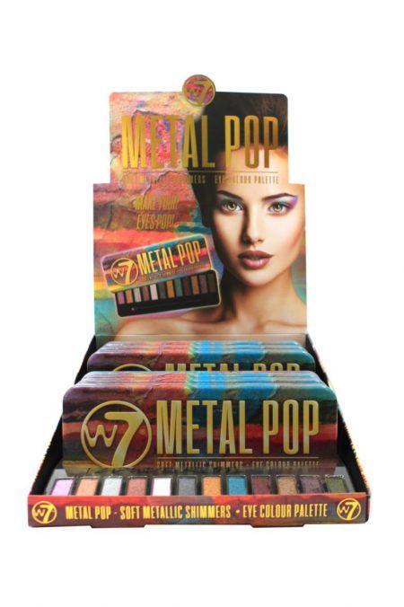 W7 Metal Pop metalic shimmers eye colour pallette 6 stuks per display